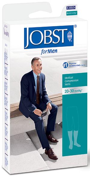 Men's Knee-High Ribbed Compression Socks Large, Khaki BI115102
