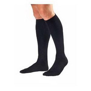Men's Knee-High Ribbed Compression Socks Small, Black BI115108