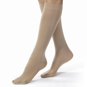 BSN Jobst®  Womens' Opaque Knee-High Firm Compression Stockings, Closed Toe, XL, Natural BI115273