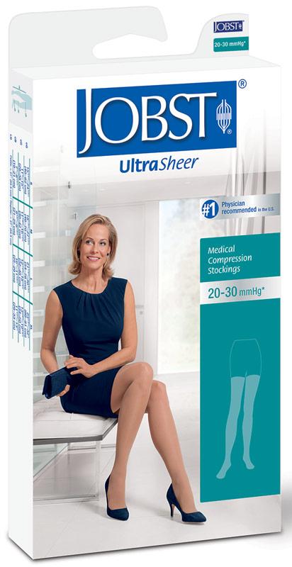 Med Thigh-Hi, Black, Clsd Toe Ultrasheer, 20-30 mm BI122251