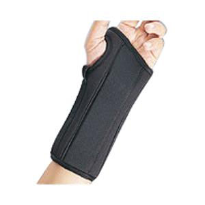 """Prolite Right Hand Wrist Splint, Medium, 6-1/2"""" - 7-1/2"""" Circumference, 8"""" BI22450MDBLK"""