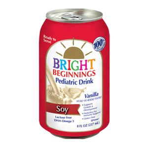 Bright Beginnings Soy Pediatric Nutritional Vanilla Drink, 8 oz. BN3680008004