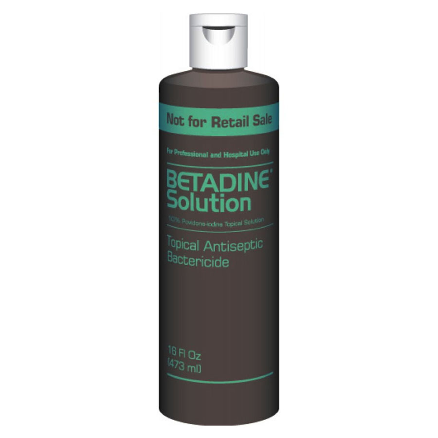 Betadine Solution 10% 16 oz. Bottle BUBS016P