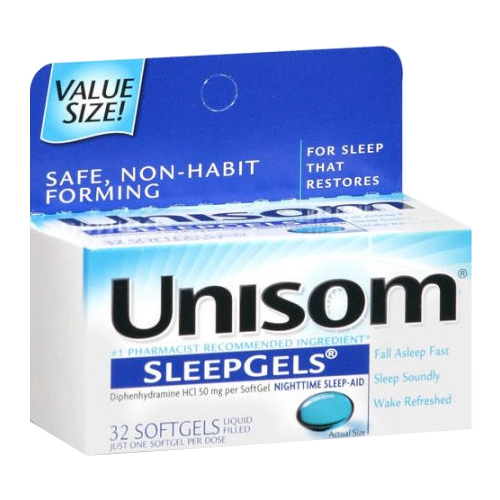 Unisom SleepGels, Maximum Strength, 32 count CHA04116700133