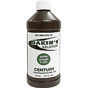 Century Pharmaceuticals Dakin's Solution Quarter Strength 125% 16Oz CK0436067216