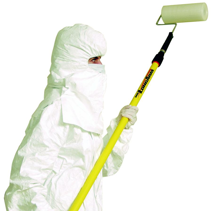 """Connecticut Clean Room Tacky Roller 18"""" Flat Surface Film, Contamination-Free CTCPR18"""