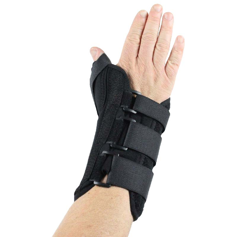 Delco Corelign Right Wrist-Thumb Brace with Thumb Spica Large, Lightweight Breathable Material DCIDCL07RLG