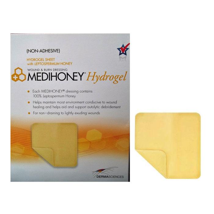 "MediHoney Hydrogel Dressing, 2.4"""" x 2.4"""", Sterile DE31620"