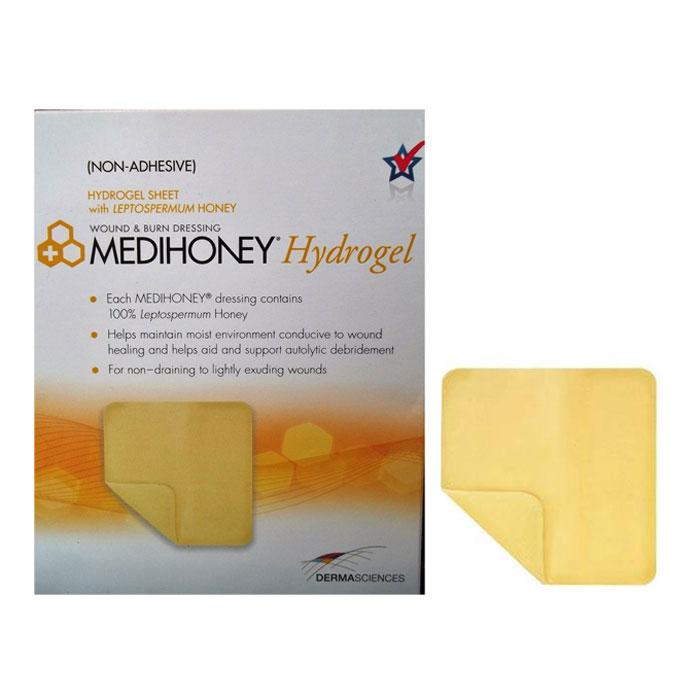 "MediHoney Hydrogel Dressing, 4.3"""" x 4.3"""", Sterile DE31640"