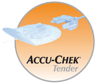 """Accu-Chek® Tender I Infusion Set 43"""" Tubing, 25G x 17mm Cannula, 20 to 45° Insertion Angle, 25G Insertion Needle, Self-Adhesive DI4541421001"""