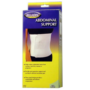 Bell-Horn Abdominal Support, 2X-Large/3X-Large, White DJ169