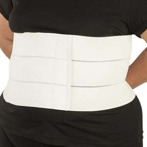 "DeRoyal Bariatric 4-Panel Abdominal Binder XL, 12"" L, 75"" to 84"" Circumference DR13654009"