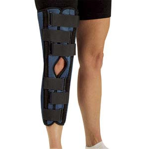 "DeRoyal Sized Tietex Knee Immobilizer XL, 20"" L, 20"" to 22"" Circumference DRA142008"