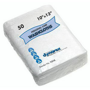 Personal Care Dry Wipe Washcloth, 12 X 13, 50/Pkg DX1316
