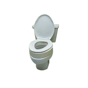 "Toilet Seat Elongated Riser, 3-1/2"""" Height ESB5081"