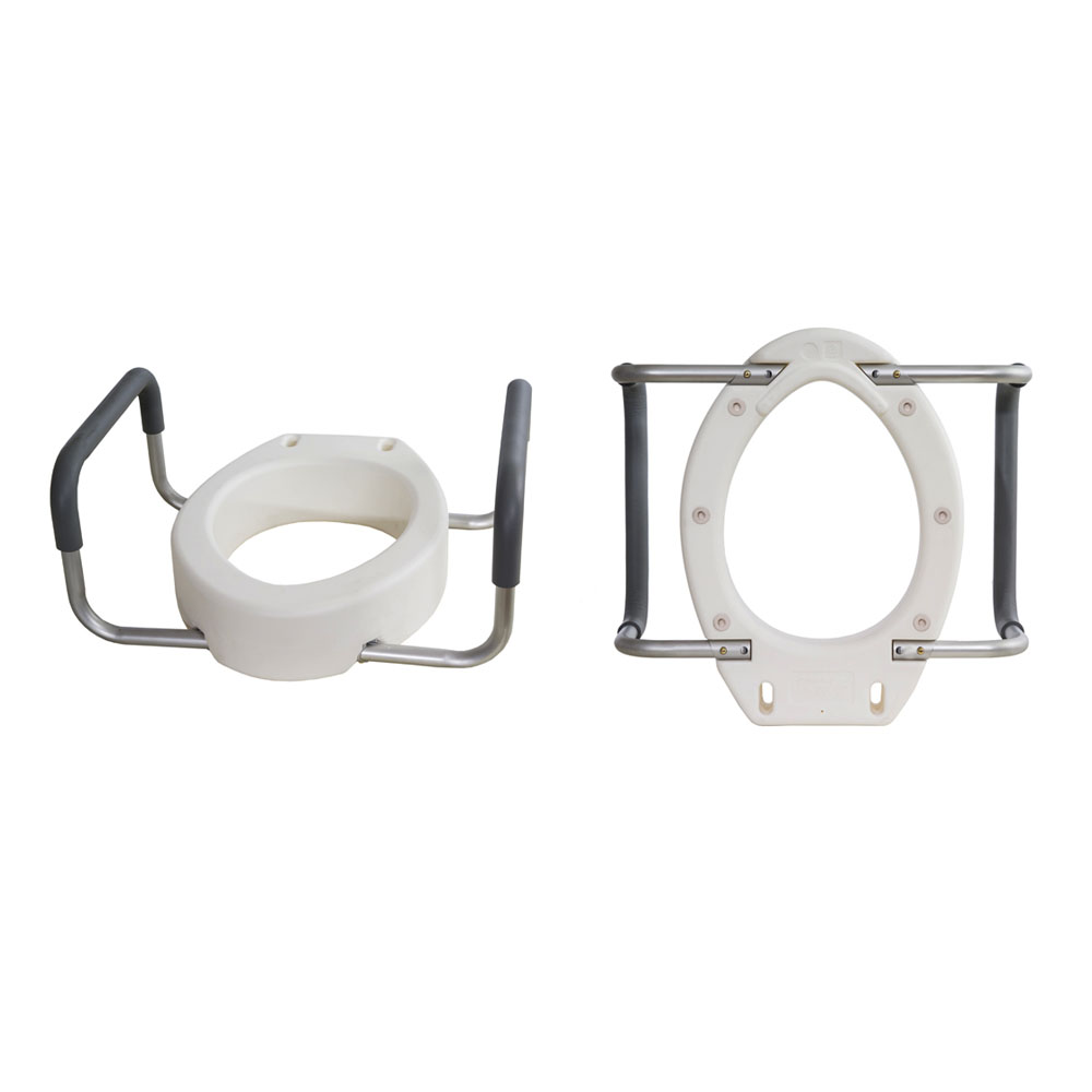 Toilet Seat Riser with Removable Arms, Elongated ESB5083