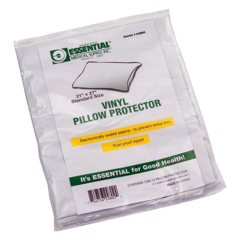 Essential Medical Zippered Vinyl Pillow Protector, Standard ESC4800S