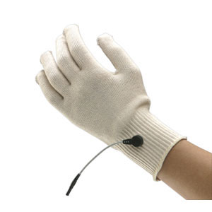 "Biomedical Life Systems BioKnit® Conductive Fabric Glove Medium, Fits up to 8"" Circumference FAGAR111"