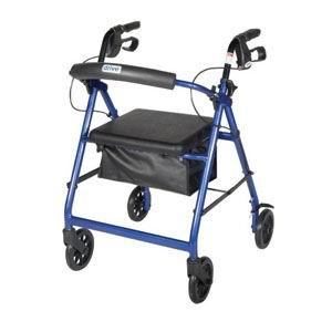 "Drive Medical Go-Lite Bariatric Steel Rollator Red, 29"" L x 30"" W x 39"" H FG10215RD1"