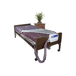 """Drive Medical Med Aire Alternating Pressure and Low Air Loss Mattress System, 80"""" L x 36"""" W x 8"""" H, 10 min. Pump Cycle Time FG14027"""