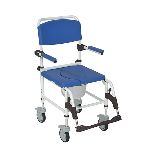 Aluminum Rehab Shower Commode Chair with Casters FGNRS185007