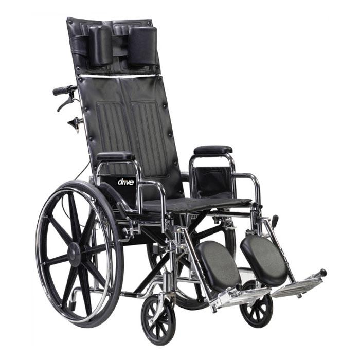 "Deluxe Sentra Full Reclining Wheelchair, 22"""" Seat Width, Detachable Desk Arm FGSTD22RBDDA"