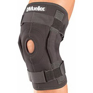 "Mueller Sports Medicine Hinged Wrap Around Knee Brace Large, 16"" to 20"" Circumference FO3333"