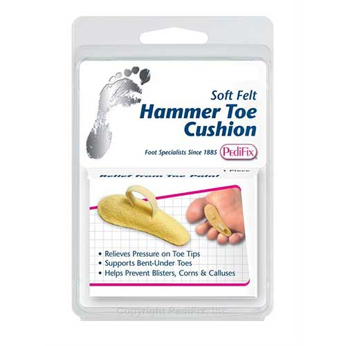 Pedifix Footcare Hammer Left Toe Cushion Medium Large, Adjustable Toe Loop FOTP54MLL