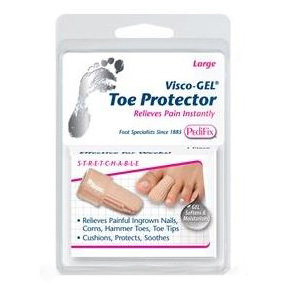 Pedifix Footcare Visco-Gel® Toe Protector Large, Soft Fabric Sleeve FOTP82L