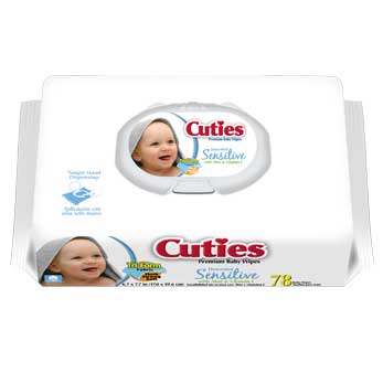 Cuties Sensitive Soft Pack, 72 wipes FQCR164131