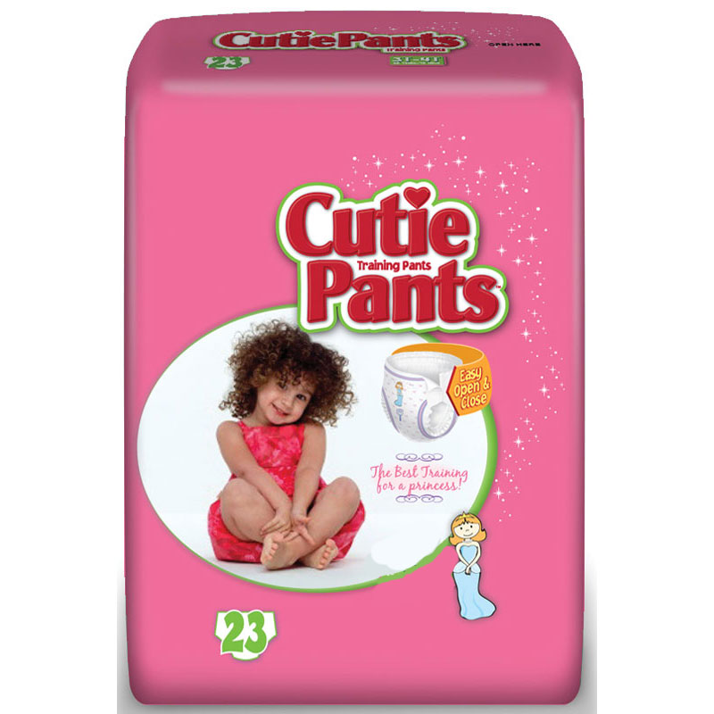 Cuties Refastenable Training Pants for Girls 2T-3T, up to 34 lbs. FQCR7008