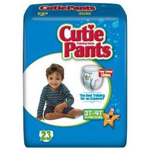Cutie Pants™ Refastenable Training Pants for Boys Large 3T to 4T, 32 to 40 lb FQCR8007
