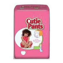 Cutie Pants™ Refastenable Training Pants for Girls Large, 3T to 4T, 32 to 40 lb FQCR8008