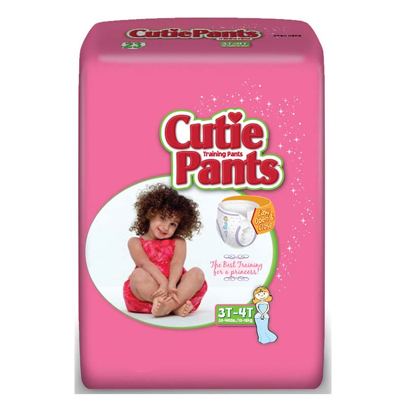 Cuties Refastenable Training Pants for Girls 4T-5T, up to 38+ FQCR9008