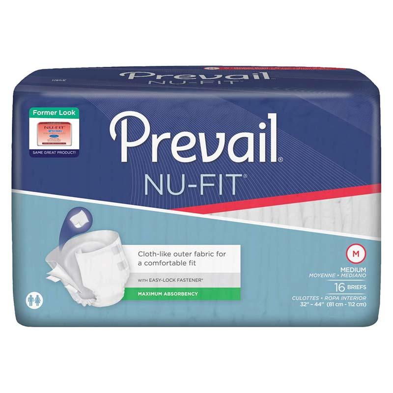 "Prevail Nu-Fit Adult Brief Medium 32"" - 44"" FQNU0121"