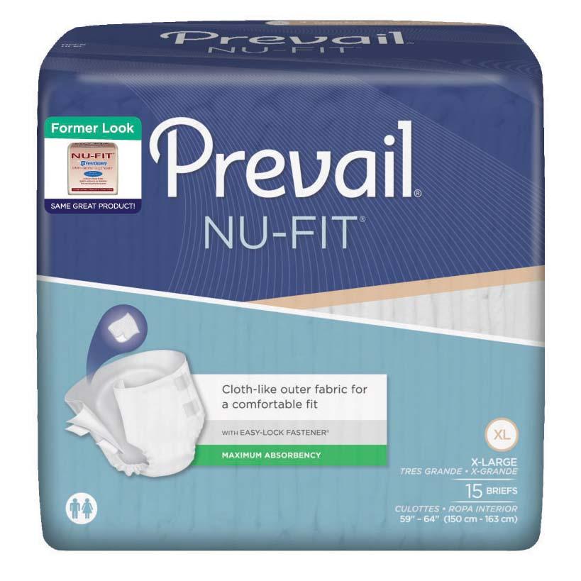 """Prevail Nu-Fit Adult Brief X-Large 59"""" - 64"""" FQNU0141"""