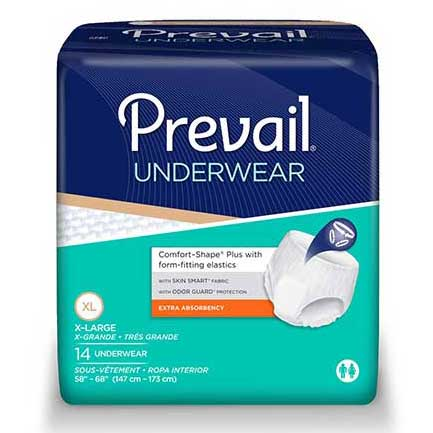"Prevail Protective Underwear X-Large 58"" - 68"" FQPV514"