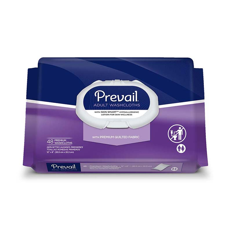 "Prevail Premium Cotton Washcloth Soft Pak 12"""" x 8"""" FQWW910"