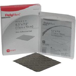 "Ferris PolyMem® Non-Adhesive Pad Dressing with Nano-Crystalline Silver 6-1/2"" x 7-1/2"" FR1077"