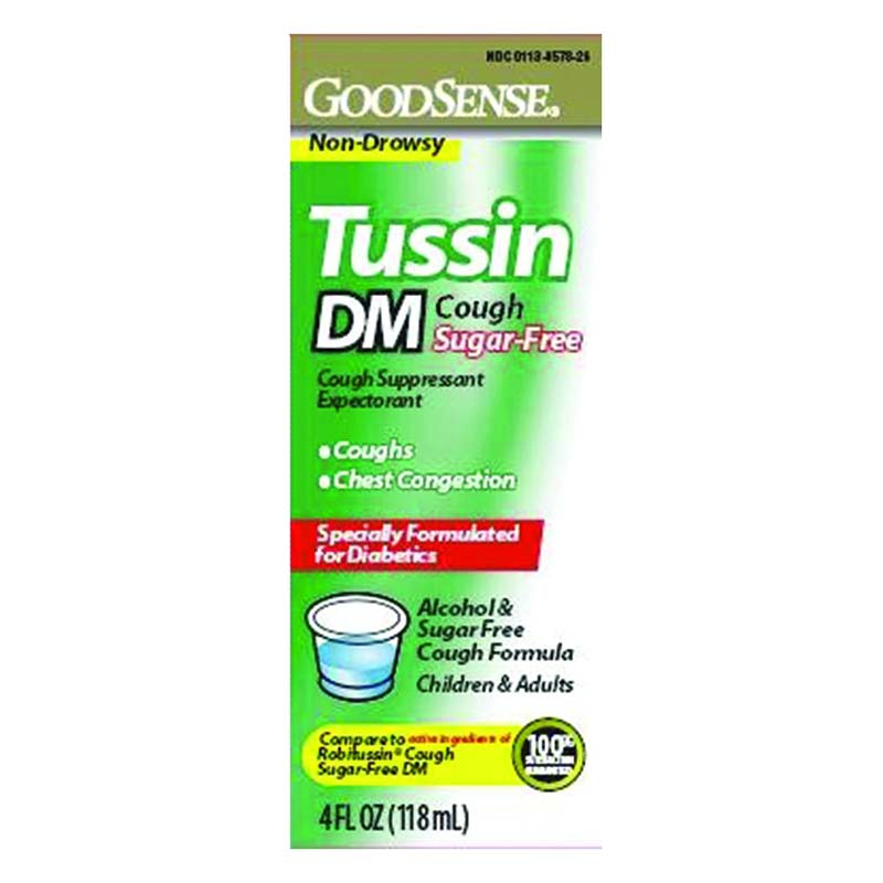 Tussin DM Cough Syrup, 4 oz. GDDLP13408