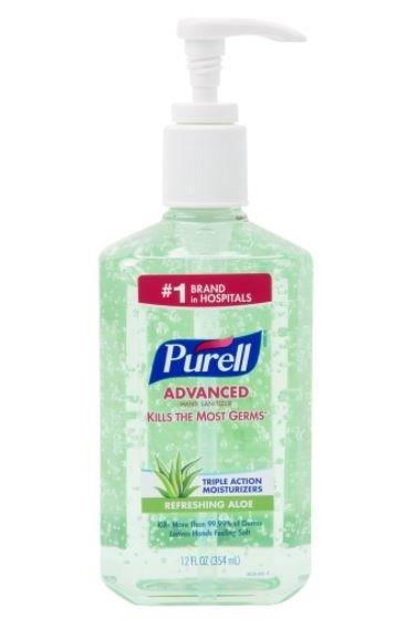 Purell Advanced Hand Sanitizer Aloe Gel  12 oz GOI363912