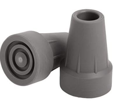 "Medline Industries Guardian® Rubber Crutch Tip, 7/8"" O.D Tube, Gray, Heavy-duty, Latex-free Rubber GU00502"