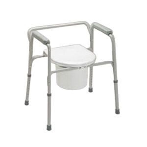 "Medline Industries EZ-Care Steel Commode 16-1/2"" to 22-1/2"" H GU30211"