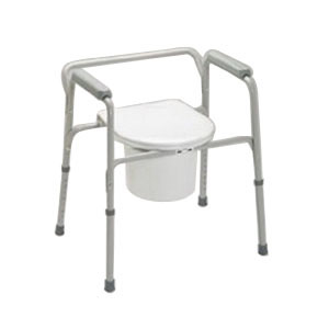 Medline Industries Padded Drop Arm Commode 350 lb GU98204