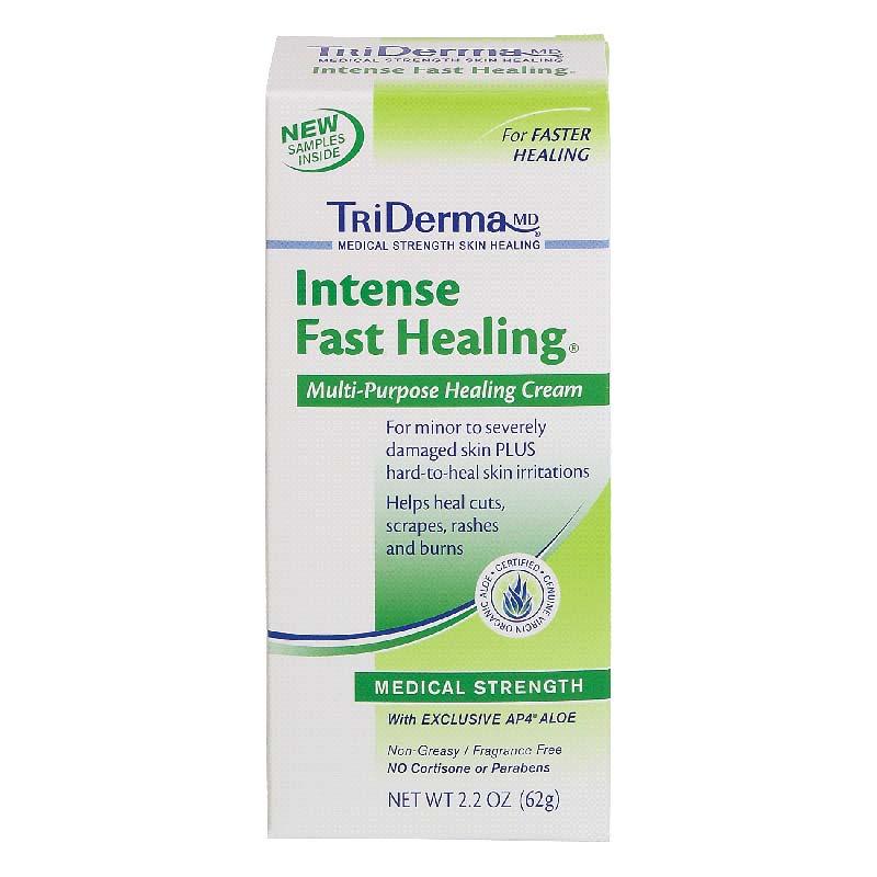 Genuine Virgin Aloe TriDerma® Intense Fast Healing Skin Cream, Fragrance-Free, 2.2 oz GVA60025