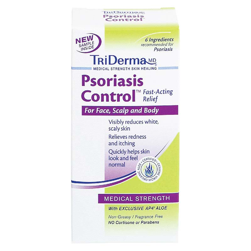Genuine Virgin Aloe TriDerma® Psoriasis Control™ Cream, Fragrance-Free, Paraben-Free GVA62025