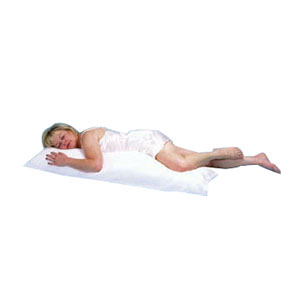 "Hermell Products Body Pillow with Cover 52"" x 16"" White HFBP7000"