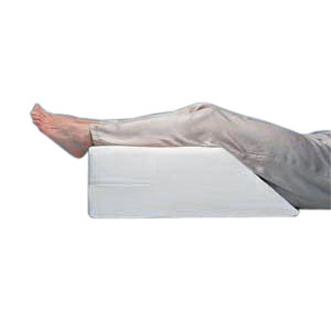 """Hermell Products Elevating Leg Rest with White Polycotton Cover, Polyurethane Foam 20"""" x 26"""" x 8"""" HFFW4020"""
