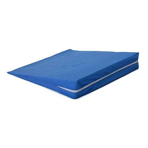 Foam Slant Wedge 21 x 21-1/4 x 3-7/8, with Blue Cover HFFW4050BL