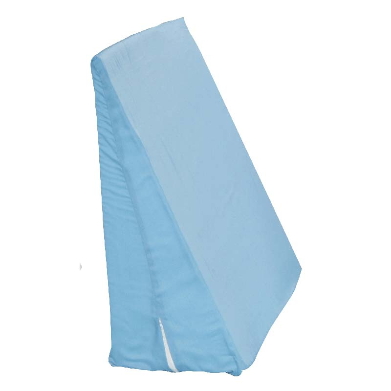 "Hermell Products Slant Bed Wedge 24"" x 24"" x 12"" Blue and White, Poly/Cotton HFFW4090B"
